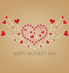 Happy mothers day with wings hearts vector