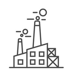 heavy industry plant linear icon vector image vector image