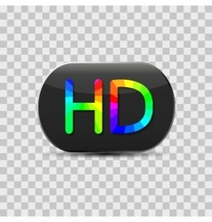 High-definition video sign vector image vector image