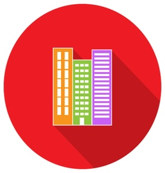 High-rise building residential apartments Property vector image