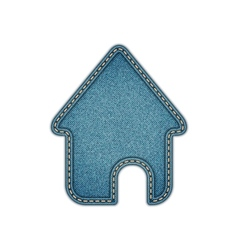 Home icon realistic denim eps10 vector