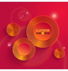 Infographic red design vector image vector image