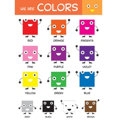 Kids Basic Colors Chart vector image