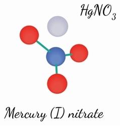 Mercury i nitrate hgno3 molecule vector