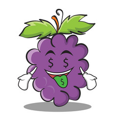 Money mouth grape character cartoon collection vector