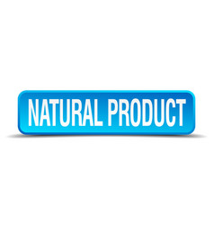 Natural product blue 3d realistic square isolated vector