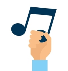 note music silhouette icon vector image vector image