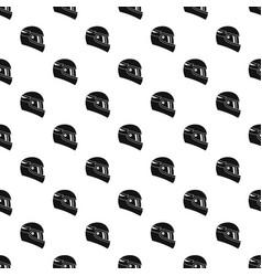 Racing helmet pattern vector