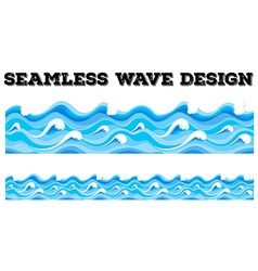 Seamless blue wave design vector