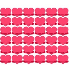 Seamless stickers hearts in tape on valentine s vector