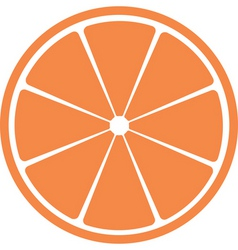 Slice of citrus fruit vector