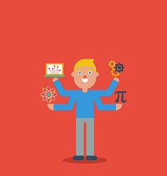 Stem education character concept vector