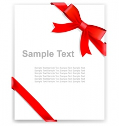 tape and bow vector image vector image