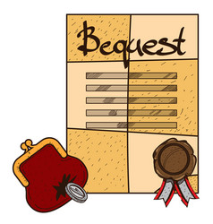 Testament bequest background ancient documents vector