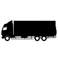 Truck silhouette vector image vector image