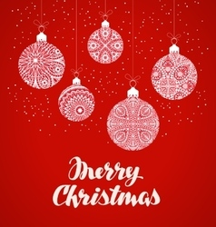 Merry christmas xmas balls in decorative style vector