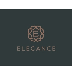 Premium letter e logo icon design luxury vector