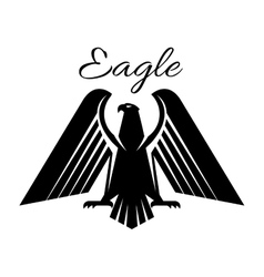 Eagle black heraldic gothic icon vector