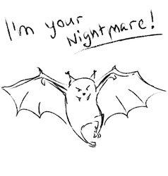 Funny bat with text vector