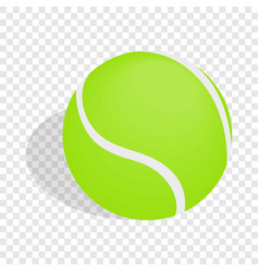 Green tennis ball isometric icon vector