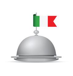 Italian flag platter vector