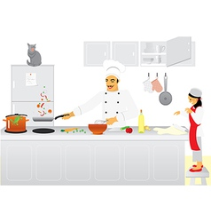 Cooking team vector