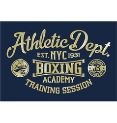 Boxing academy vector image