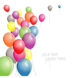 Colorful balloons background with copy space vector
