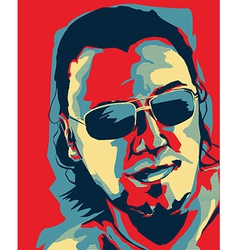 Obama style portrait vector image
