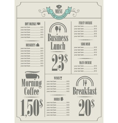 Price list vector