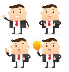 Business character bulb vector