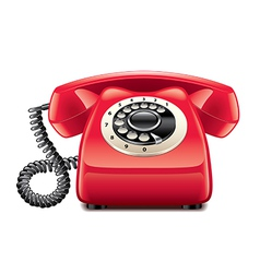 Retro phone isolated vector