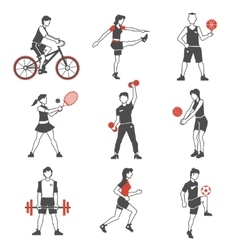 Sport people icon black vector
