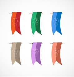 Colorful bookmarks vector