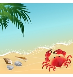 Summer beach vacation concept background vector