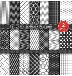 Big set of black white pattern2 vector