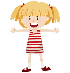 Little girl with pigtails vector