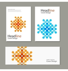 Set pattern with abstract figures brochures vector