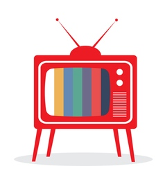 tv red vector image