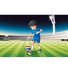 A football player from Thailand vector image vector image