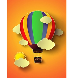 balloon with sunset vector image vector image