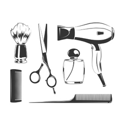 Black elements for barber shop vector