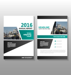 Black green annual report flyer brochure vector