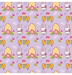 Bunny and chicken vector image vector image