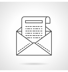 Business correspondence icon flat line icon vector image