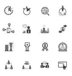 Business people and finance icons with texture vector