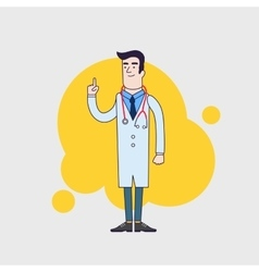 character of happy doctor in medical vector image vector image