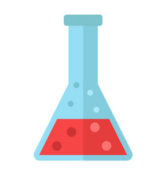 chemistry flat icon laboratory and test tube vector image