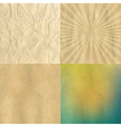 Crushed and cardboard vintage papers set vector