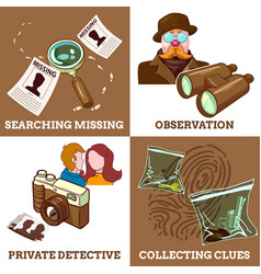 Detective service compositions vector